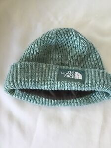 The North Face Beanie cap green lined