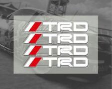 For TOYOTA 4pcs Car Sticker Emblem White TRD Logo Door Handle Bar sport Badge