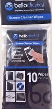 """Bell'O Digital SCL1010 All Natural Screen Cleaner Wipes 6"""" x 5 1/4"""""""