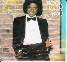 """MICHAEL JACKSON  Rock With You PICTURE SLEEVE 7"""" 45 record + jukebox strip NEW"""