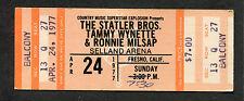 1977 Statler Bros. Tammy Wynette Milsap unused concert ticket Selland Fresno
