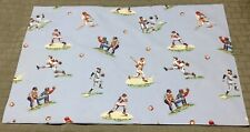 Pottery Barn Kids Blue Baseball Standard Pillowcase One Gently Used