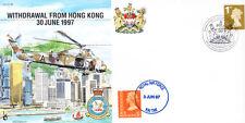 CC28 1997 Hong Kong RAF Kai Tak Cubierta 10th Ann bfps 2996 MATASELLOS 28 Sqn #4