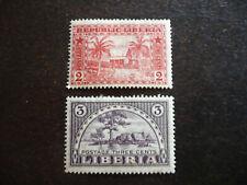Stamps - Liberia - Scott# 134-135