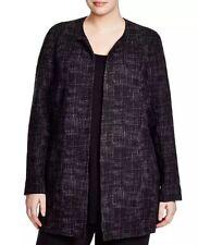 3X Eileen Fisher Black Crosshatch  Tencel Stretch W/Organic Cotton K/L Jacket