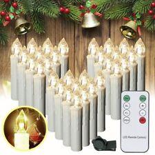 30X Kabellose LED Weihnachtskerzen Christbaum kerzen Lichterkette Fernbedienung