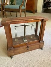 Antique Wood Balance ApothecaryPharmacy MedicalScale w/weights by Henry Troemner