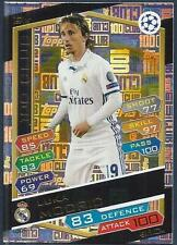 TOPPS MATCH ATTAX CHAMP LEAGUE 2016-17 #100C07-REAL MADRID-100 CLUB-LUKA MODRIC