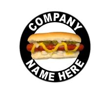 "2 - 12"" Personalized Hot Dog Cart or Truck  Decals with Your Company Name"