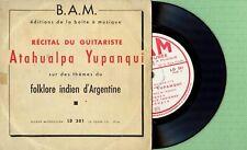 ATAHUALPA YUPANQUI / Guitar Recital / B.A.M LD 301 Pres France 195? EP VG+