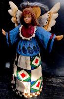 "JIM SHORE Angel Ornament 2002 Enesco 4 1/2"" Geometric Skirt"