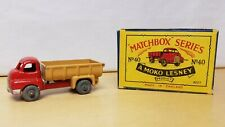Lesney Moko Matchbox # 40 TIPPER TRUCK & ORIGINAL TYPE B2 BOX