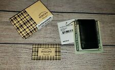 NEW with TAG/BOX - Boconi Magnetic Leather Money Clip - BLACK