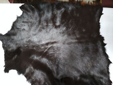 2 pcs  HAIRON RANDOM COLOR&SHADE BROWN - CHOCOLATE BR. GOAT HIDES PELT  - A1