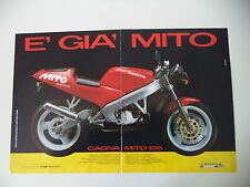 advertising Pubblicità 1990 MOTO CAGIVA MITO 125 SEVEN SPEED