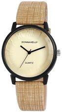 Donna Kelly Damen Armbanduhr 40 mm Kunstleder Armband Uhr Oliv sportlich elegant