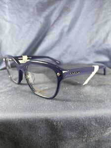 Coach Eyeglass Frames Blue Square Thick Rimmed 5422 (Navy) HC6094F S 54 19 135