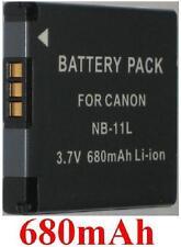 Batterie 680mAh type NB-11L NB-11LH NB11L NB11LH Pour Canon Digital IXUS 132