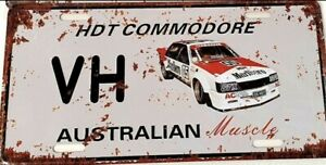 HOLDEN COMMODORE HDT VH metal signs Aust Muscle cars man cave 30x15cm FREEPOST