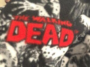 """NWOT """"The Walking Dead"""" Fleece Throw, Lap Blanket. Handcrafted.  64.5"""" X 57"""". C3"""