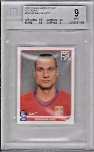 2010 Panini World Cup Stickers #299 Nemanja Vidic (Serbia) BGS 9 Mint
