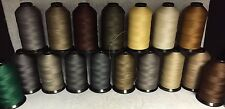 92 (Tex 90) Mid Weight Bonded Nylon/Poly Upholstery Leather Thread (8 oz)