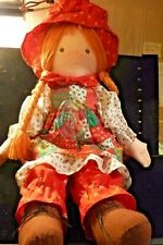 Vintage 1988 Holly Hobbie Christmas Doll With Ornament