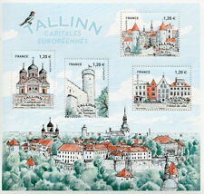 France 2018 MNH Talinn European Capitals 4v M/S Cathedrals Castles Stamps