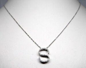 Necklace S Gold bianco18 Carats Bright Diamonds Gold Diamond Necklace