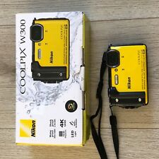 Nikon COOLPIX W300 16.0MP Waterproof Digital Compact Camera - Yellow, Excellent