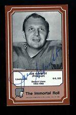 Joe Schmidt - LIONS - Autographed 1975 Immortal Roll w/COA