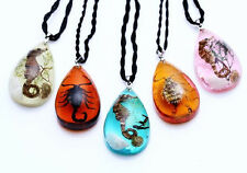 5pcs mix style black scorpion sea dragon mini drop pendant&necklace FREE SHIP
