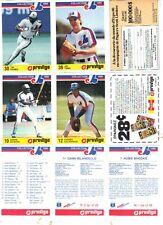 1986 Provigo Montreal Expos Set (28) 14 Panels NRMT Andre Dawson HOF Raines