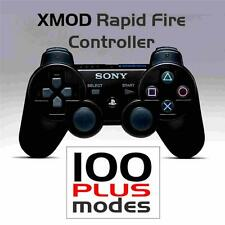 PS3 Playstation MODDED CONTROLLER,4 BLACK OPS JITTER @ XMOD Rapid Fire 100 MODES