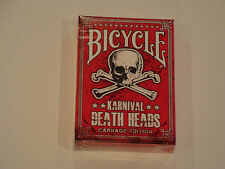 Karnival Death Heads Carnage Edition Bicycle Deck Of Playing Cards Magic Tricks