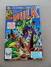 The Incredible Hulk 263 .Landslide & Avalanche App .  Marvel 1981 - VF - minus