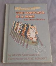 TEN COPYCATS IN A BOAT AND OTHER RIDDLES BY ALVIN SCHWARTZ  1980 WEEKLY READER