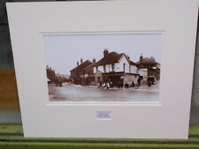 VINTAGE B&W REPRODUCTION PHOTOGRAPH PRINT HIGH STREET PURLEY 1903 ON CARD