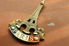 France Paris Eiffel Tower Tourist Travel Souvenir 3D Metal Fridge Magnet Craft