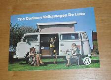 Volkswagen VW Danbury De Luxe Camper Van / Motor Caravan Brochure 1976