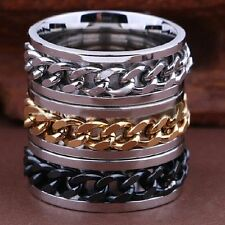 Lot de 50 ACIER chain spin gold black  silver mix ring bague homme femme
