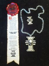 Inquisitor Purity Seal  Rosette Necklace & pin
