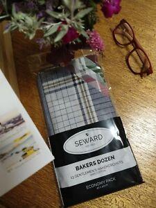 13 X Men's Handkerchief  100% Cotton SEWARD  BAKERS DOZEN