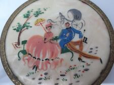 Vintage rice powder box, art deco, hand painted RARE