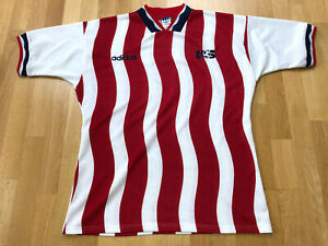 USA soccer US Vintage LARGE red 1994 national jersey shirt away Adidas X280