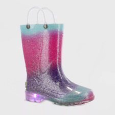 Western Chief Toddler Girls' Ansley Light-Up Rain Boots Pink