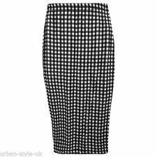 Polyester Stretch, Bodycon Check Unbranded Skirts for Women