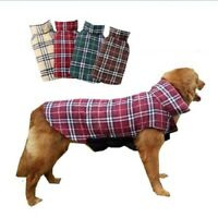 Dog Clothes Plaid Cotton Reversible Winter Waterproof Jacket Coat For Pet Puppy