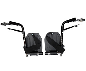 Invacare Wheelchair Hemi Footrests with Aluminum Footplates And Heel Loops