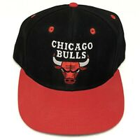 Chicago Bulls Addidas Snapback Adjustable Black Red Hat Team Logo
